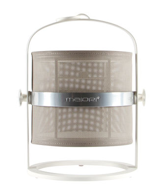 Lampe solaire La Lampe Petite LED / Sans fil - Structure blanche - Maiori blanc,taupe clair en métal