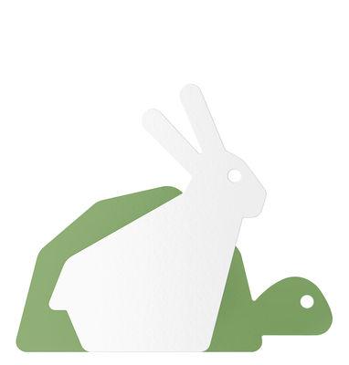 Mobilier - Portemanteaux, patères & portants - Patère Le Lièvre et la Tortue - ENOstudio - Lièvre & tortue / Vert - Acier peint