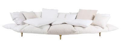 Divano destro Comfy - / L 300 cm di Seletti - Bianco - Tessuto