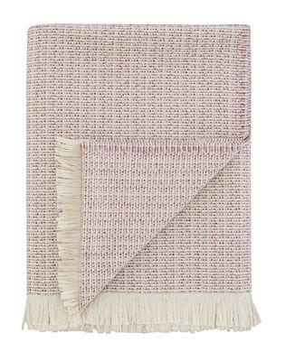 Plaid Fleck / Laine - 180 x 150 cm - Tom Dixon rose chiné en tissu