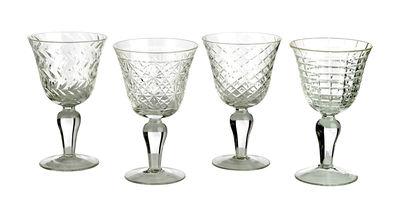 Verre à vin Cuttings / Set de 4 - Motifs en relief - Pols Potten transparent en verre