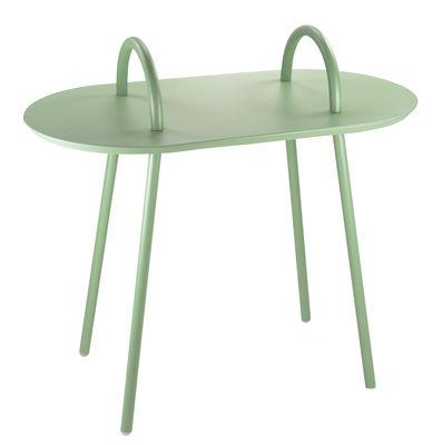 Mobilier - Tables basses - Table d'appoint Swim / Intérieur & extérieur - 71 x 37 cm - Bibelo - Vert clair - Métal laqué époxy