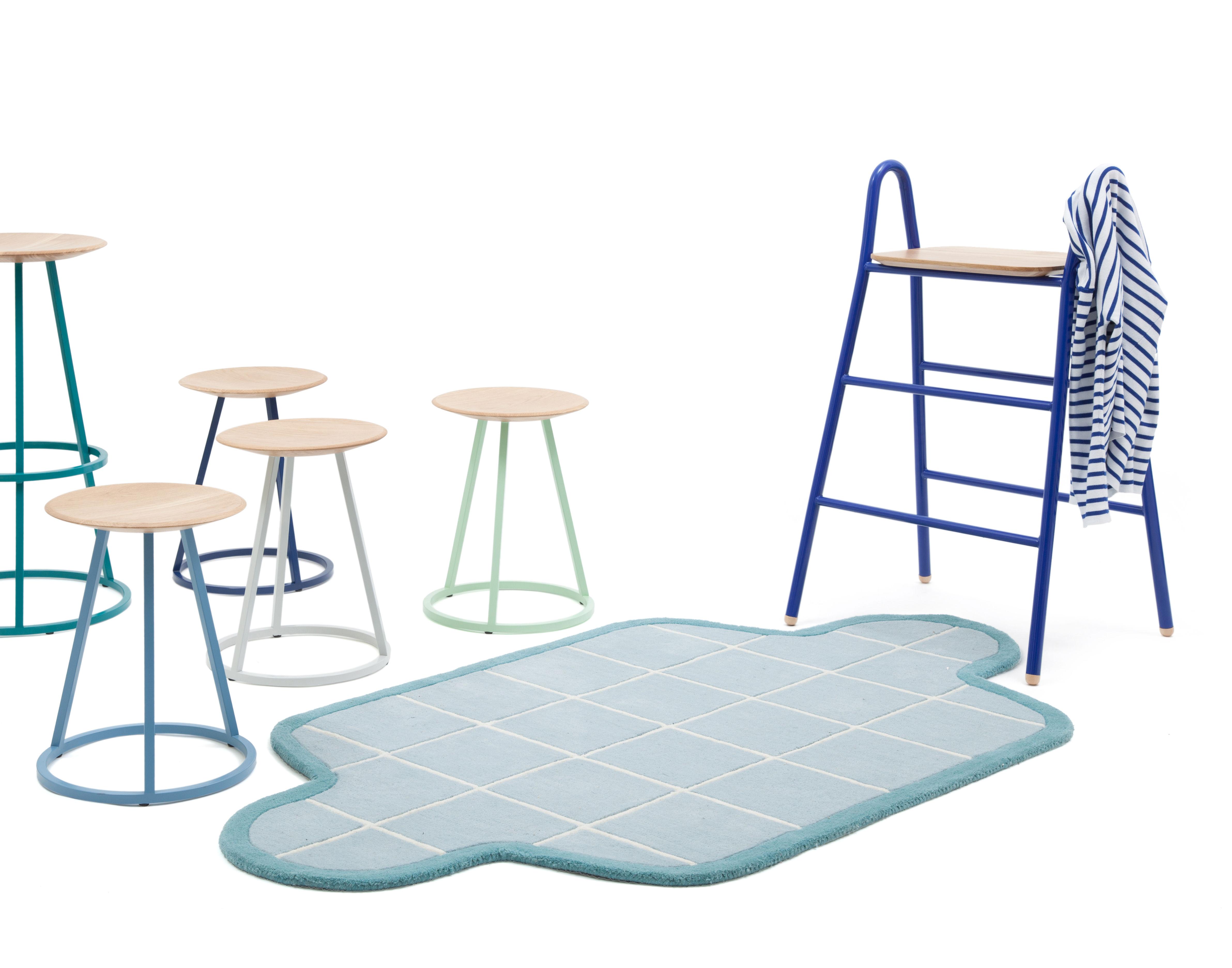 tabouret de bar grand gustave h 77 cm bois m tal gris clair hart made in design. Black Bedroom Furniture Sets. Home Design Ideas