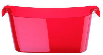 Interni - Bagno  - Vaschetta portaoggetti Boks - Con ventose di Koziol - Rosso trasparente - Materiale plastico