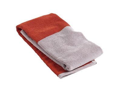 Serviette de toilette Compose / 100 x 50 cm - Hay rouge,beige en tissu