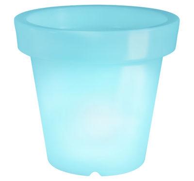 Pot de fleurs lumineux Bloom / H 40 cm - Bloom! bleu en matière plastique