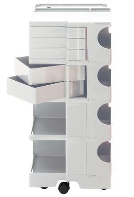 Desserte Boby / H 94 cm - 5 tiroirs - B-LINE blanc en matière plastique