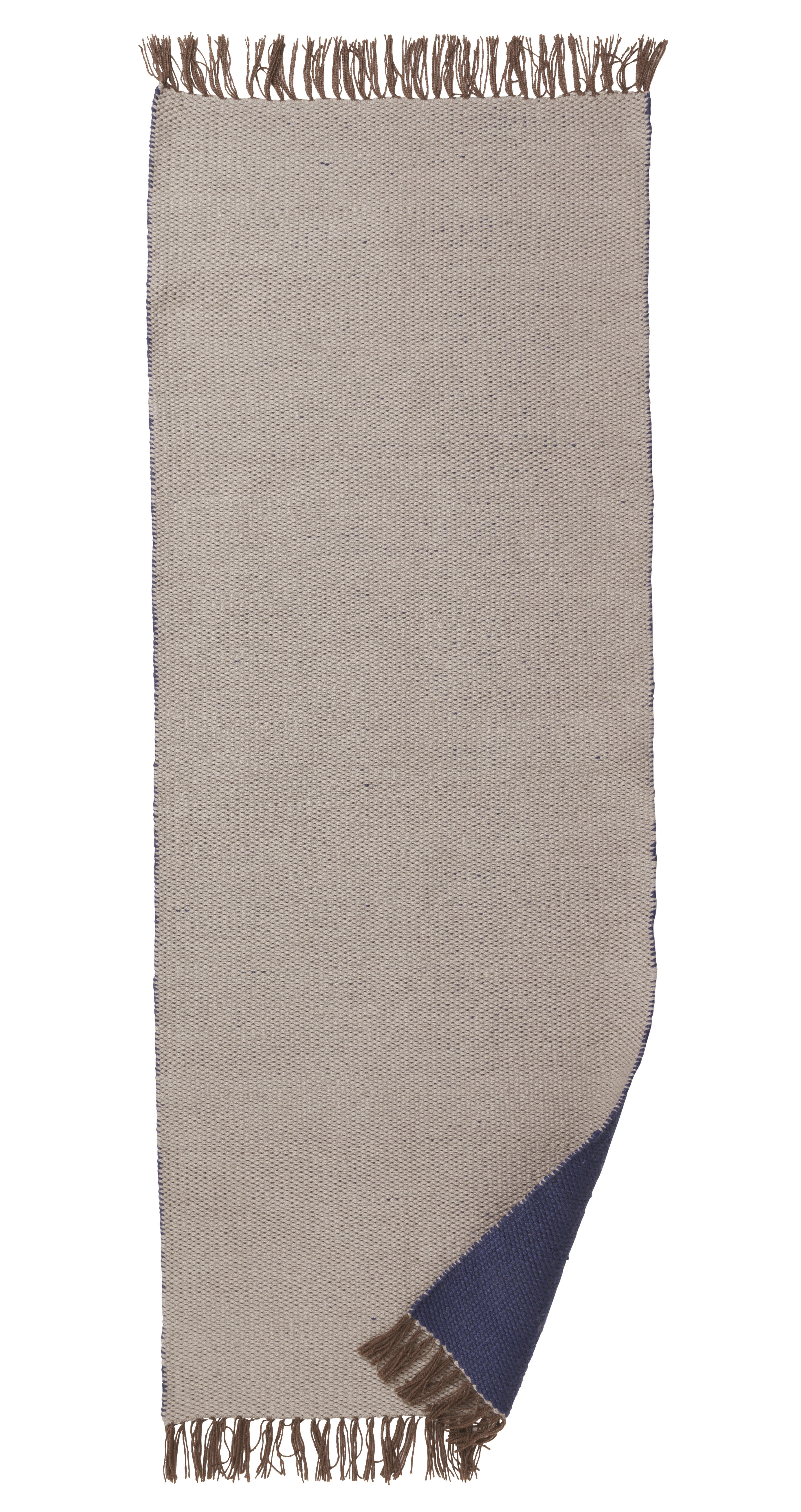 tapis pour l 39 ext rieur nomad large 70 x 180 cm gris clair bleu fonc ferm living. Black Bedroom Furniture Sets. Home Design Ideas