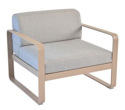 Bellevie Gepolsterter Sessel / Bezug grau - Fermob - Muskat,Flanellgrau