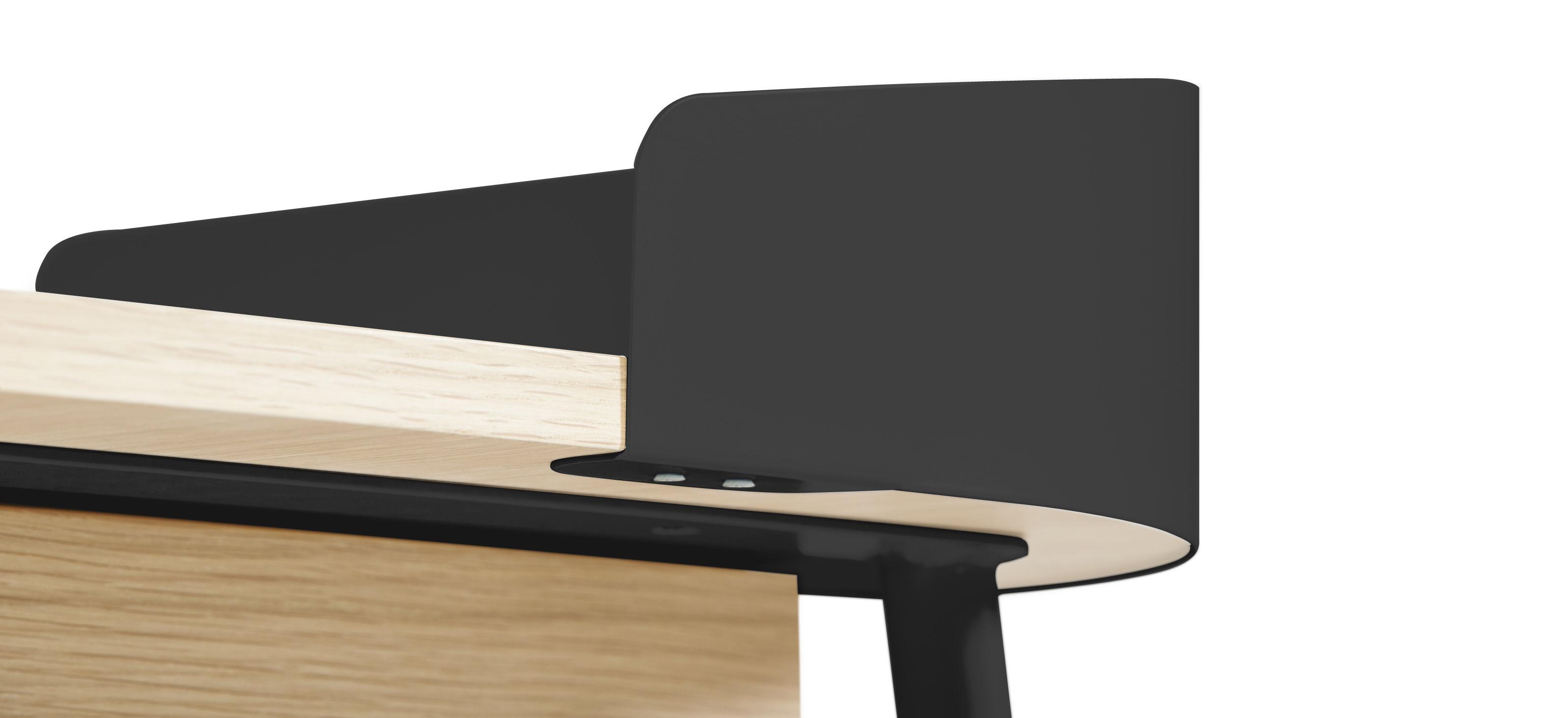 victor schreibtisch anthrazit holz natur by hart made in design. Black Bedroom Furniture Sets. Home Design Ideas