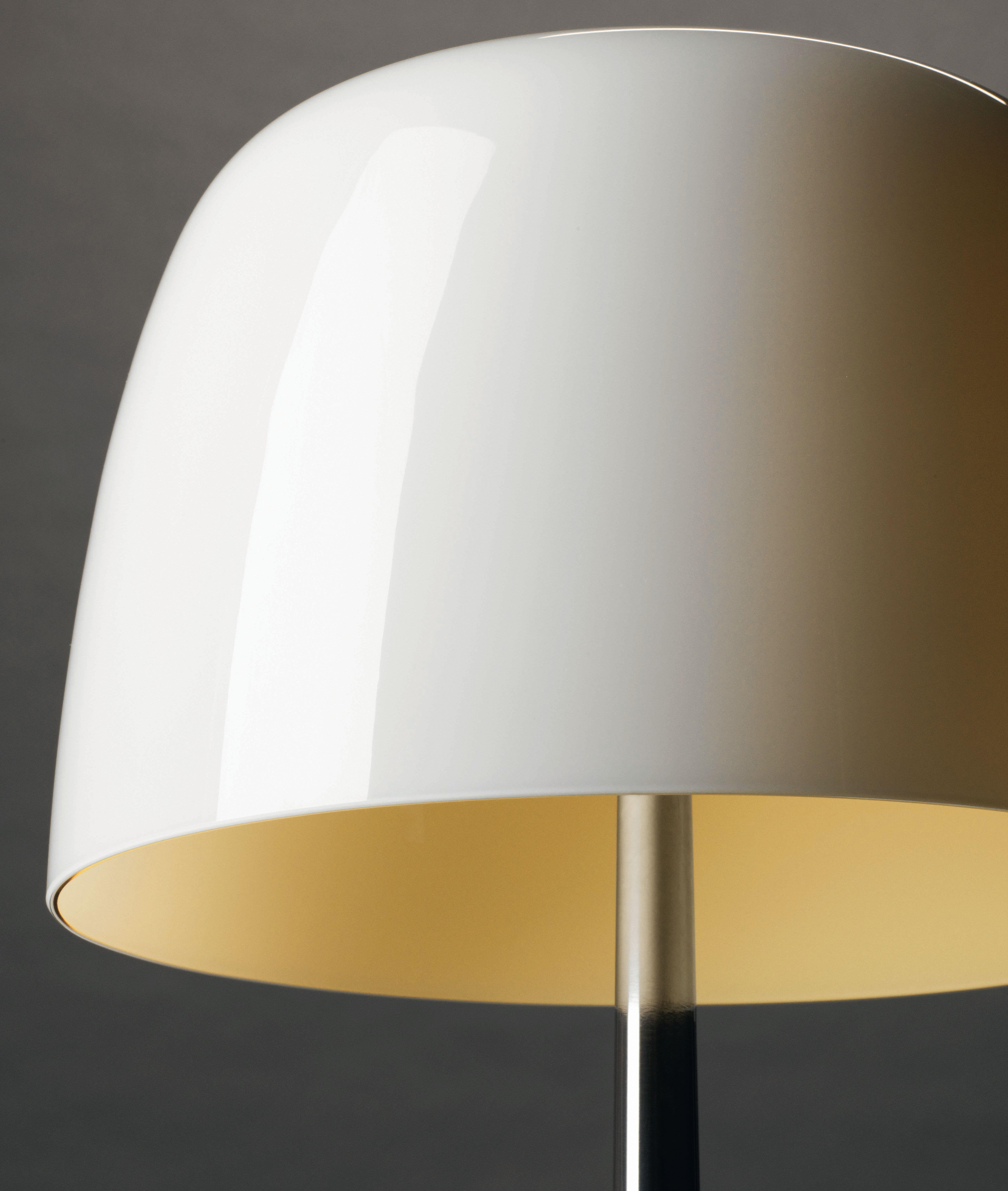 lampe de table lumi re piccola variateur h 35 cm blanc chaud pied alu poli foscarini. Black Bedroom Furniture Sets. Home Design Ideas