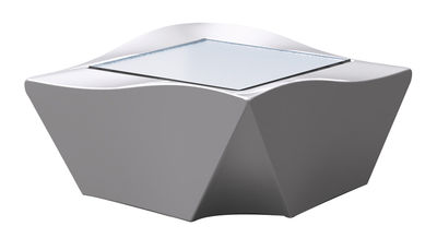 Table basse Kami Ni version laquée - Slide laqué gris en verre