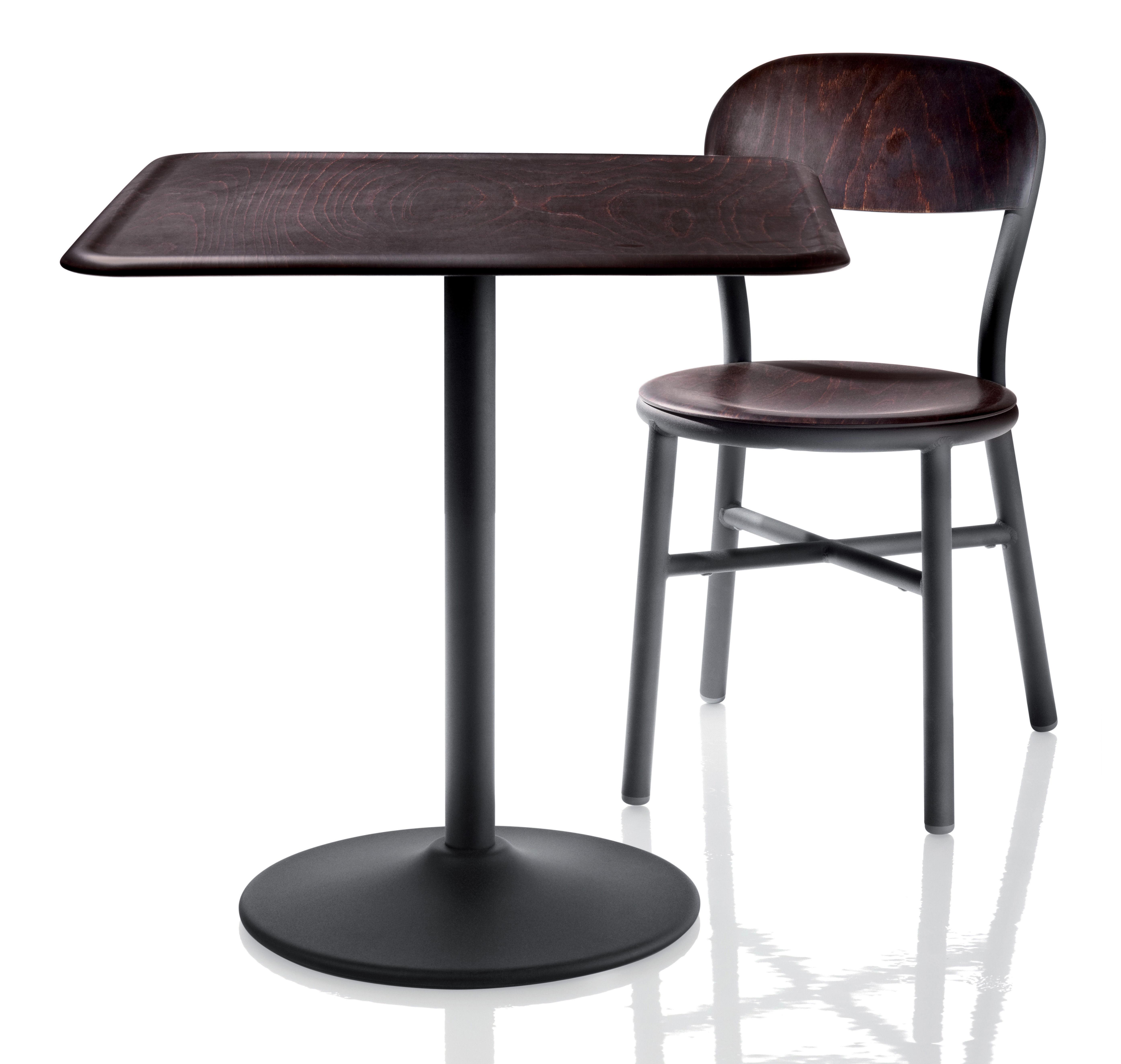 chaise empilable pipe bois m tal noir h tre fonc magis. Black Bedroom Furniture Sets. Home Design Ideas