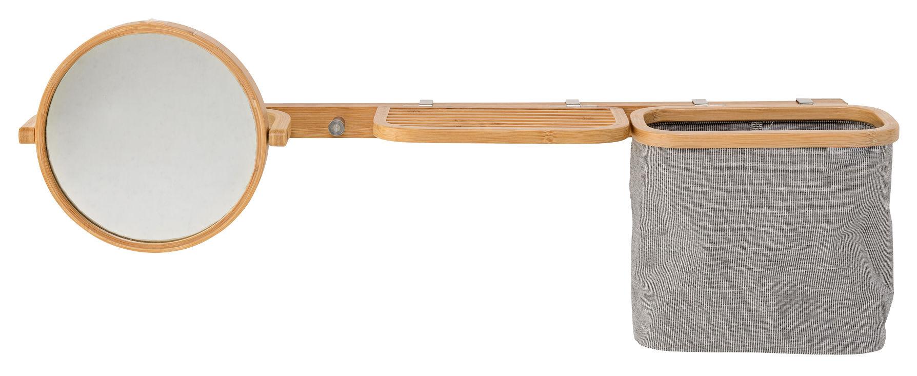 Rangement mural bamboo avec miroir l 70 cm bambou for Alessi porte listino prezzi