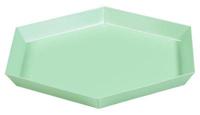Arts de la table - Plateaux - Plateau Kaleido Small / 22 x 19 cm - Hay - Menthe - Acier peint