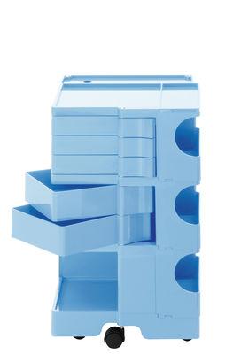 Desserte Boby / H 73 cm - 5 tiroirs - B-LINE bleu ciel en matière plastique