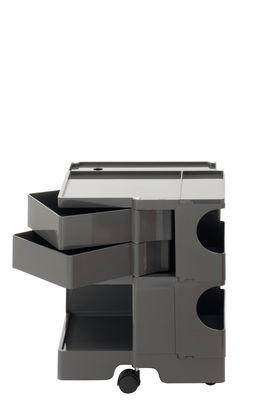 Carrello/tavolo d'appoggio Boby - / H 52 cm - 2 cassetti di B-LINE - Grigio temporale - Materiale plastico