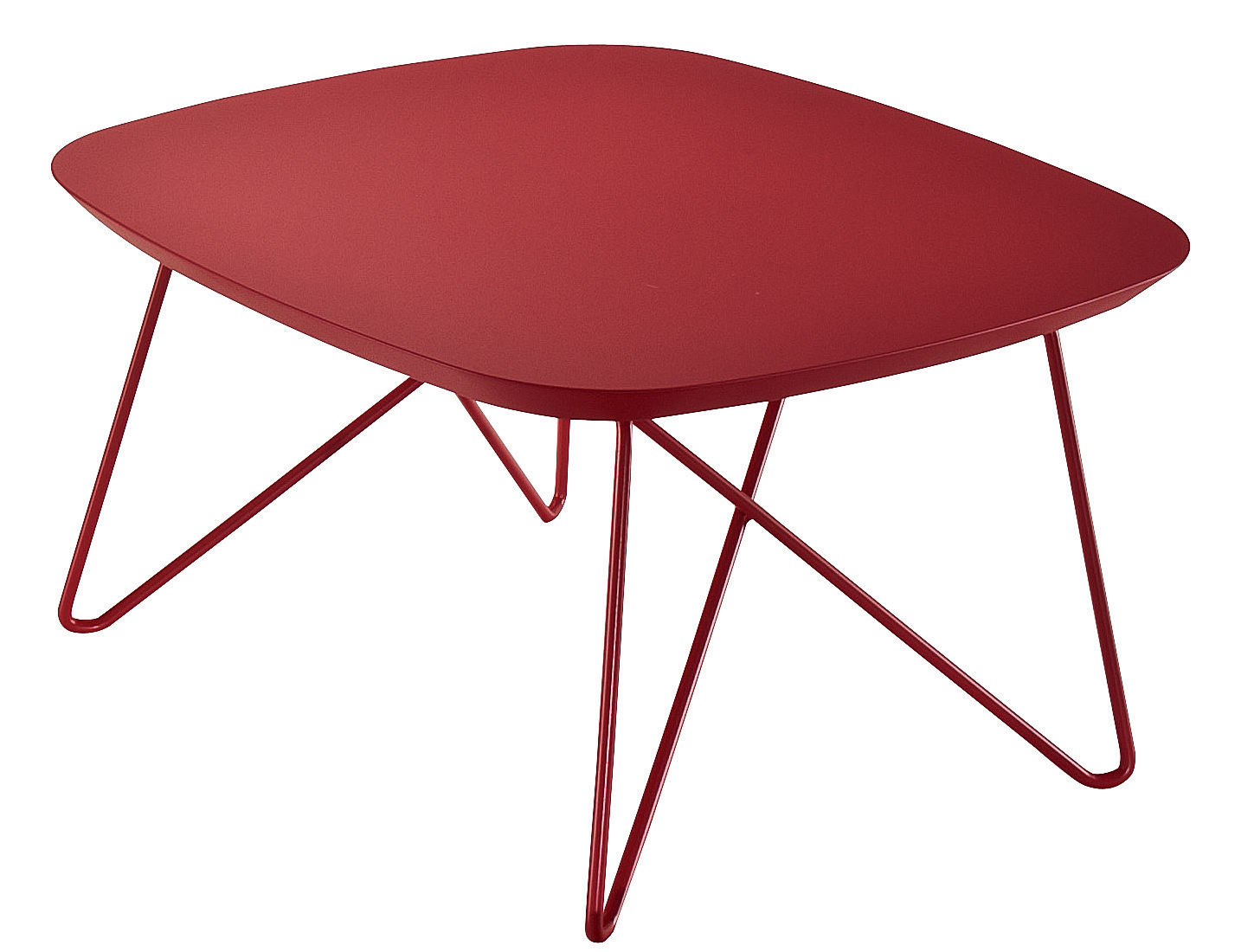 table basse ink 60 x 60 x h 35 cm rouge zanotta. Black Bedroom Furniture Sets. Home Design Ideas