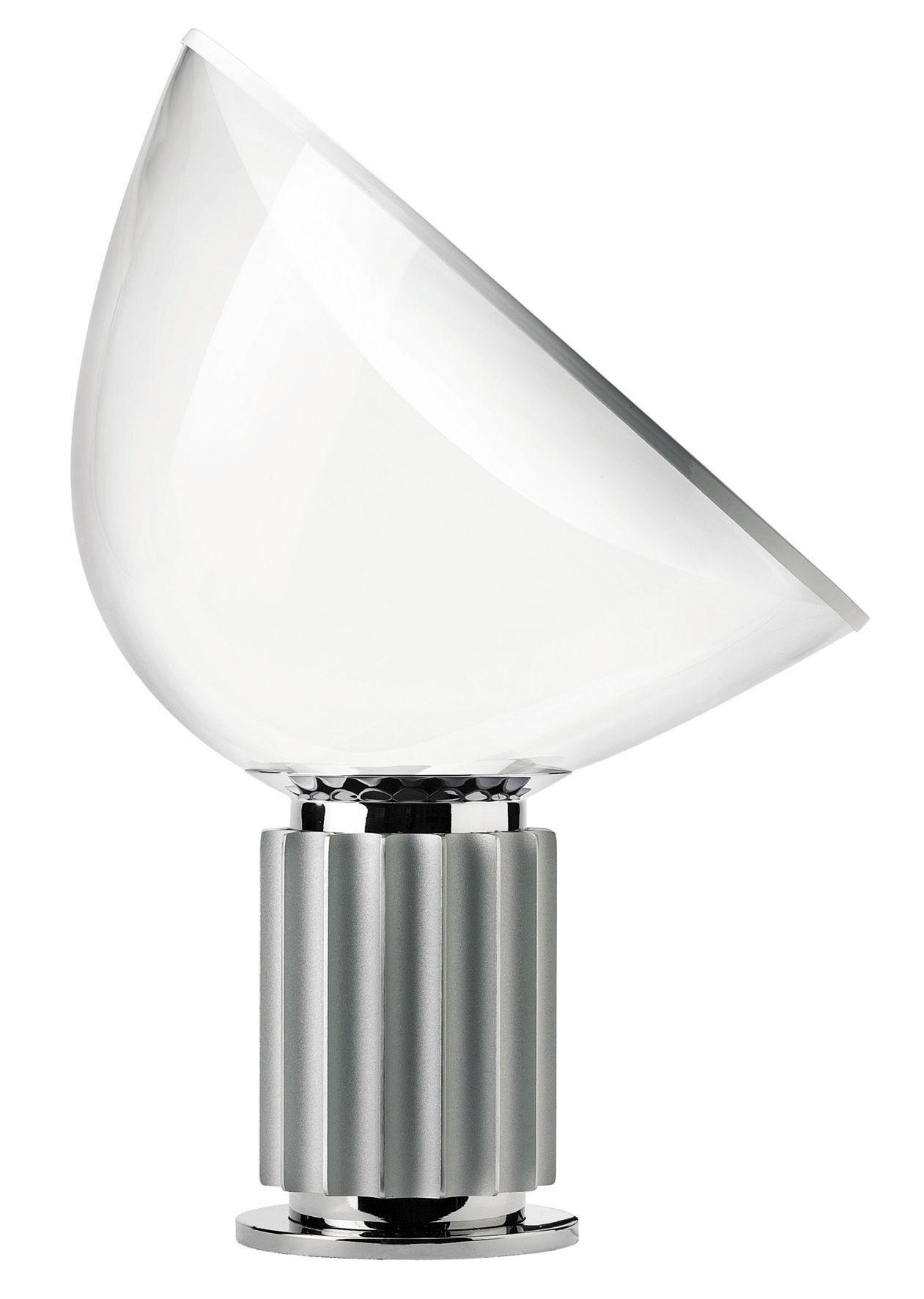 Taccia led lampada da tavolo base argento by flos made in design - Base lampada da tavolo ...