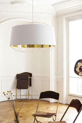 Suspension lanterna large 75 x h 49 cm blanc or petite friture - Petite suspension luminaire ...