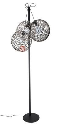 Luminaire - Lampadaires - Lampadaire Sphere Small / H 160 cm - Bambou - Forestier - H 160 cm / Noir & taupe - Bambou, Métal laqué