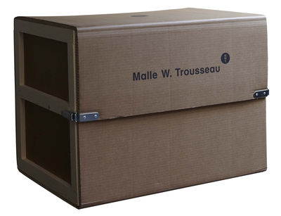 Image of Set utensili da cucina Malle W. Trousseau - / completo / 43 utensili: taglio, cucina e contenitori di Malle W. Trousseau - Marrone - Legno