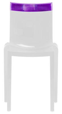 Chaise empilable Hi Cut blanche / Polycarbonate - Kartell blanc,violet en matière plastique