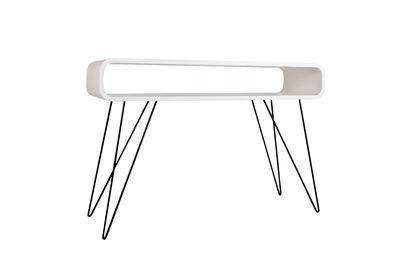 Möbel - Büromöbel - Metro Sofa Schreibtisch / Schreibtisch - L 120 cm x H 80 cm - XL Boom - Weiß / Fußgestell schwarz - Holz, Metall