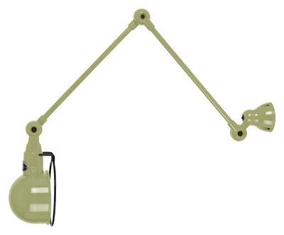 Foto Applique Signal - 2 bracci articolati - L max 60 cm di Jieldé - Kaki brillante - Metallo