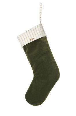 Décoration Noël Stocking / Chaussette à suspendre - Ferm Living vert en tissu