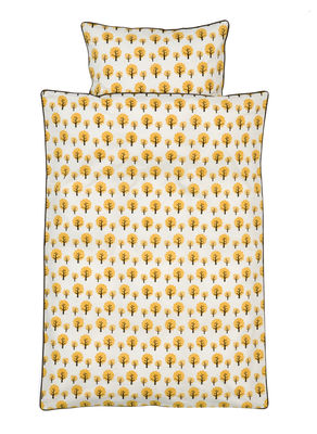 Decoration - Children's Home Accessories - Dotty Baby Kid bedlinen set - / 70 x 100 cm by Ferm Living - 70 x 100 cm - Yellow - Cotton