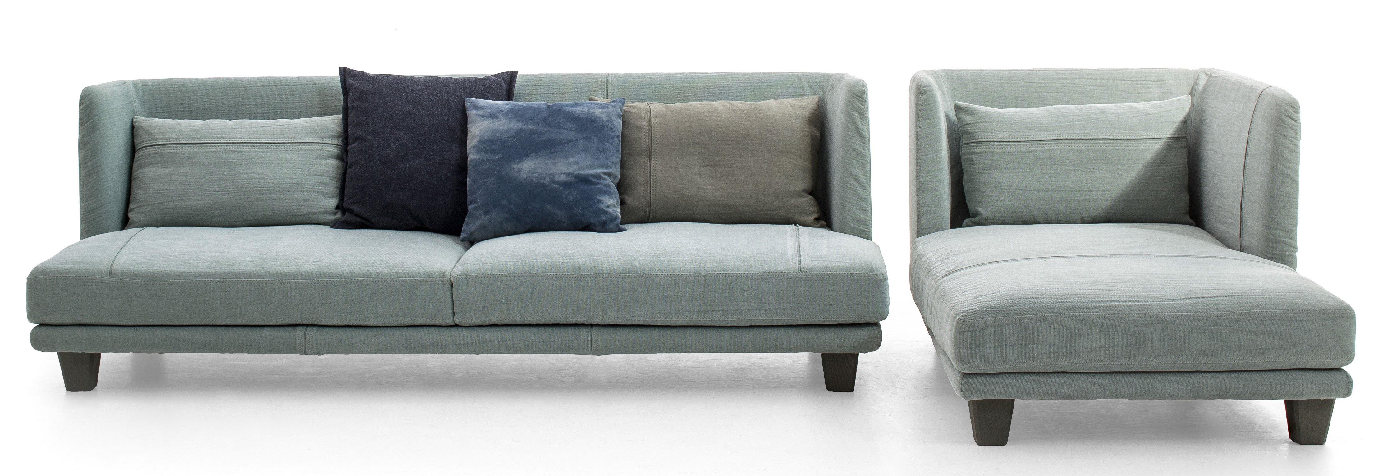Gimme More Straight sofa L 240 3 seaters Grey light blue by