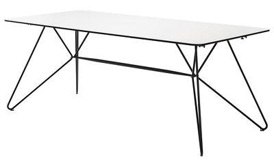 Tavolo da giardino Sketch / 240 x 88 cm - Stratificato - Houe - Bianco,Grigio scuro - Legno