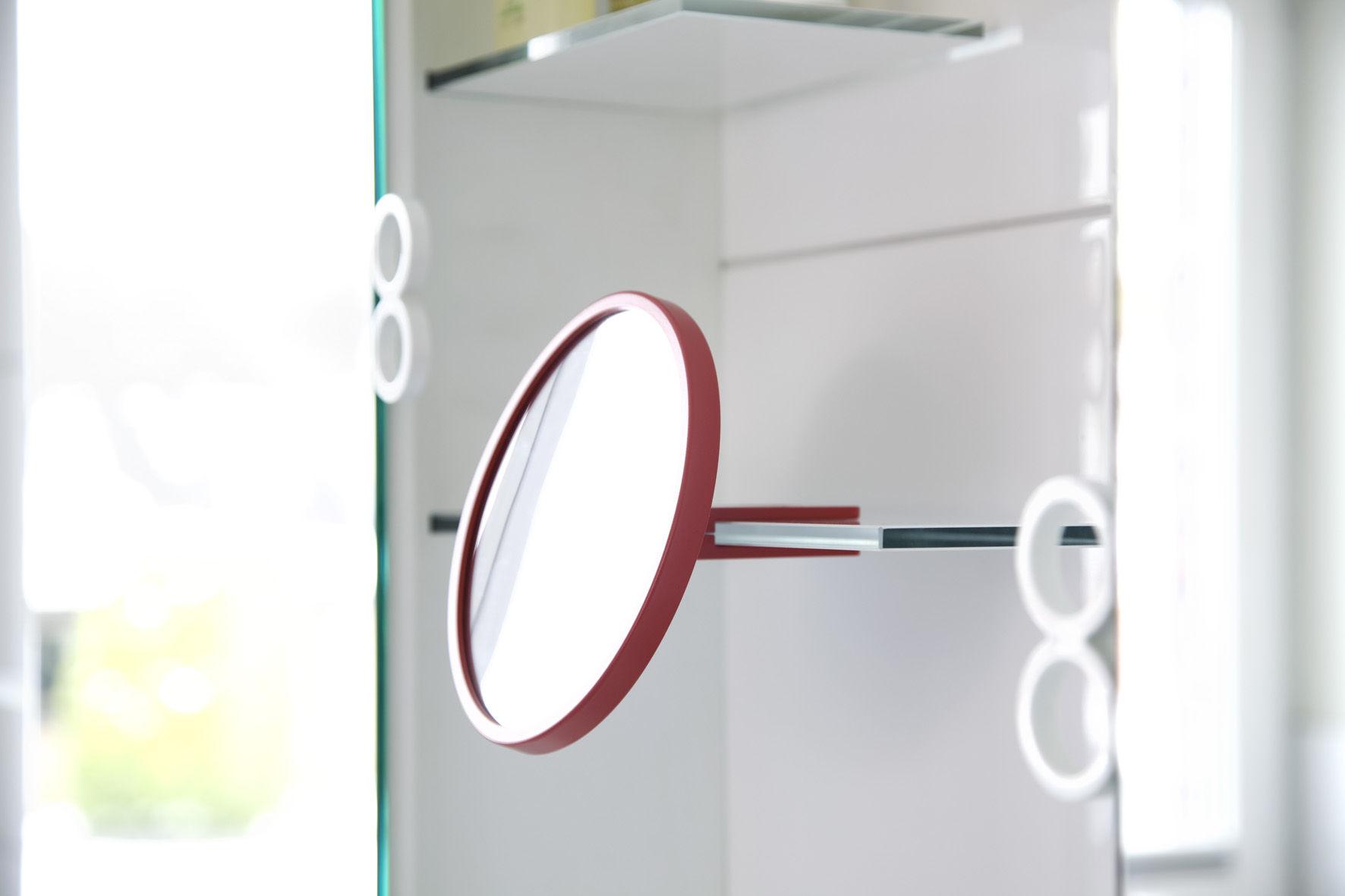 Kali specchio da appoggiare d 39 ingrandimento rosso - Specchio ingrandimento ...