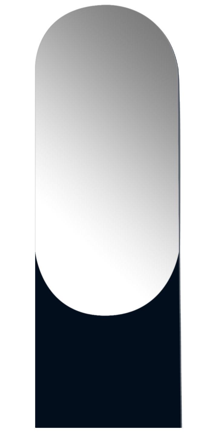 Miroir shape rond large l 50 x h 150 cm noir h 150 for Miroir rond 50 cm