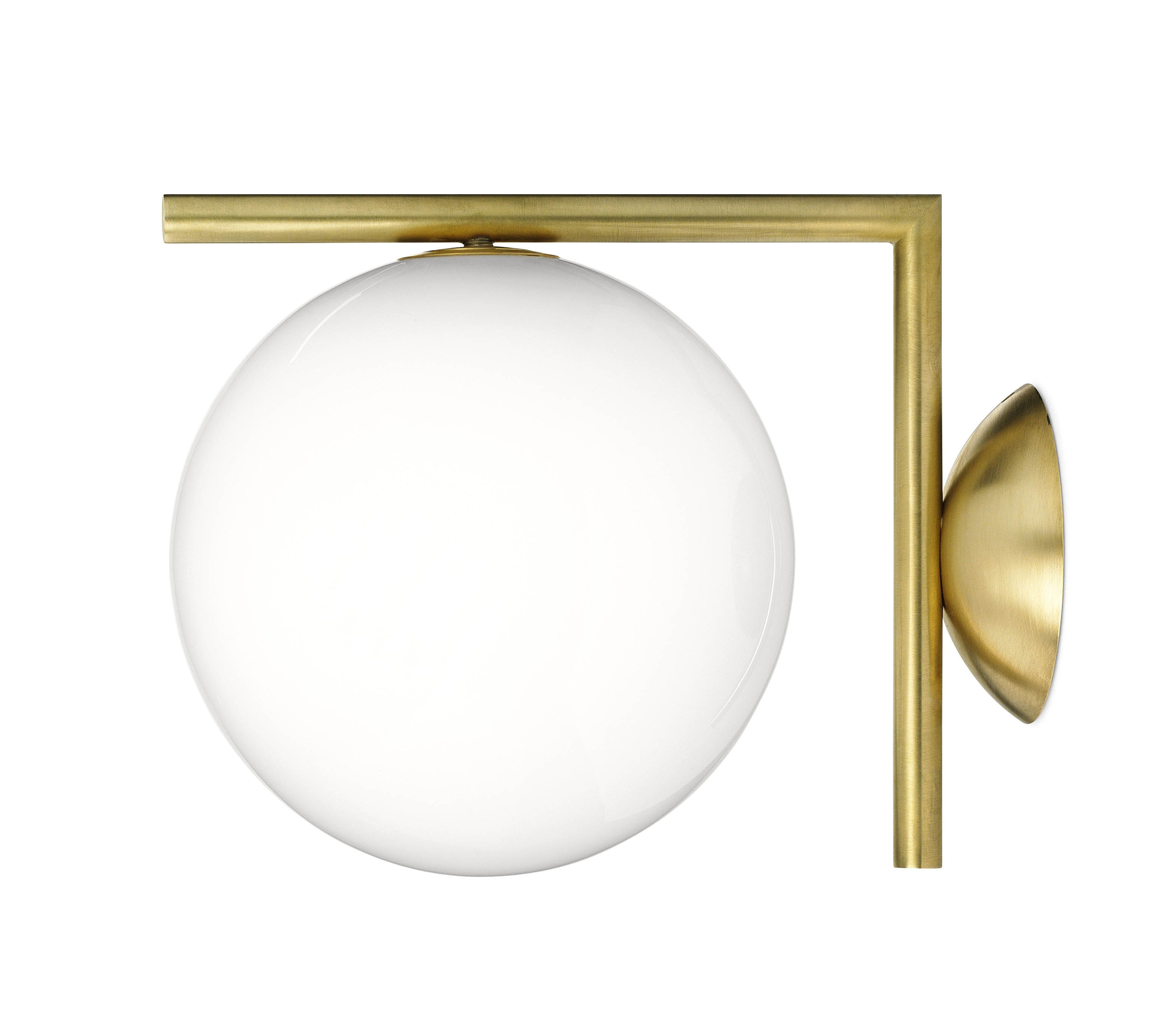 ic w1 wall light brass by flos. Black Bedroom Furniture Sets. Home Design Ideas