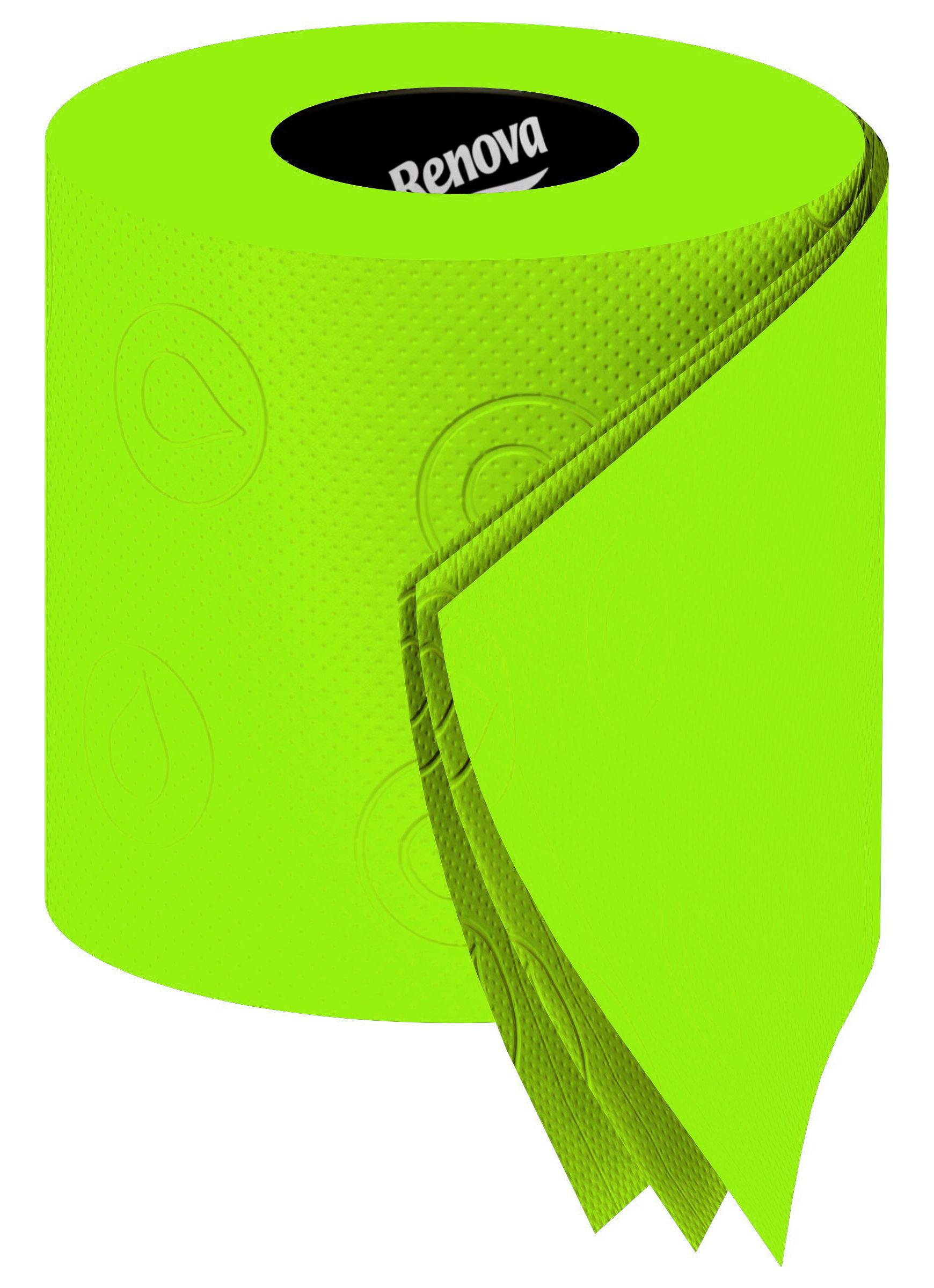 papier toilette 6 rouleaux vert 6 rouleaux renova made in design. Black Bedroom Furniture Sets. Home Design Ideas