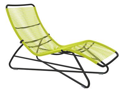 Chaise longue Saint Tropez - Fermob Noir,Verveine en Métal