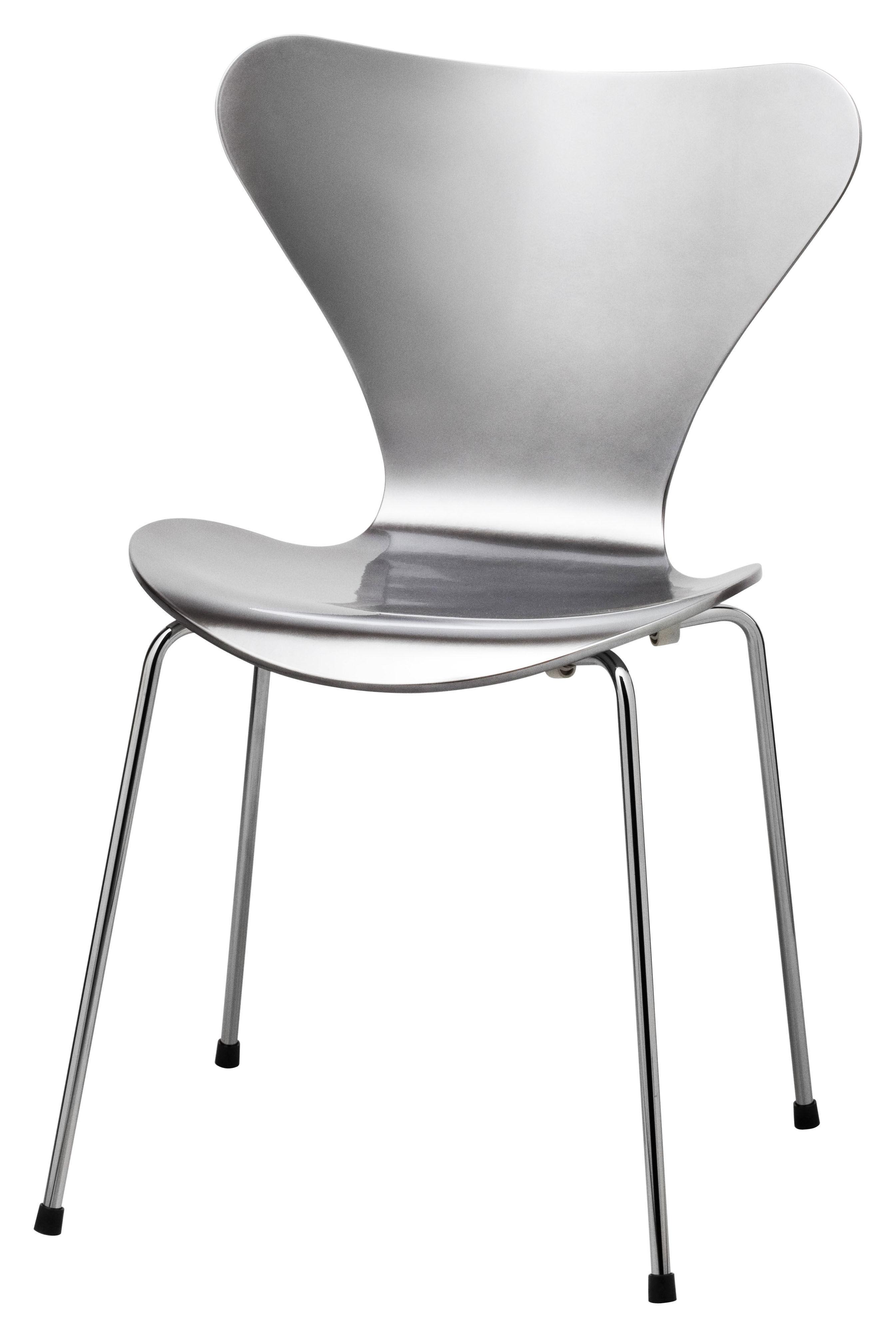 chaise empilable s rie 7 laqu e coloris exclusif aluminium poli fritz hansen. Black Bedroom Furniture Sets. Home Design Ideas