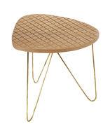 Tavolino basso End / H 40 cm - Serax - Legno naturale,Metallo - Legno