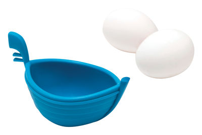 Cuit oeuf Eggondola Pour oeuf poché bleu en matière plastique