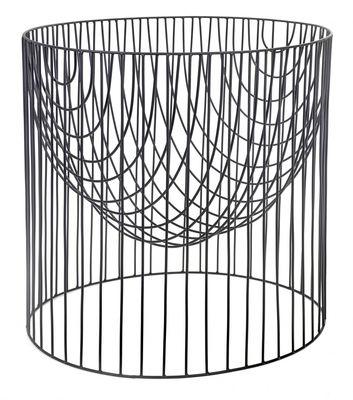 Déco - Paniers et petits rangements - Panier Caterina XL / Ø 60 x H 60 cm - Métal - Serax - Noir - Fil de fer laqué