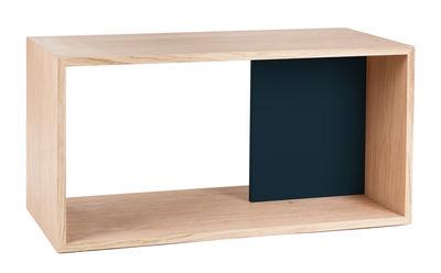 Foto Mensola Edgar / L 72 x H 36 cm - Hartô - Rovere naturale,Grigio ardesia - Legno Scaffale