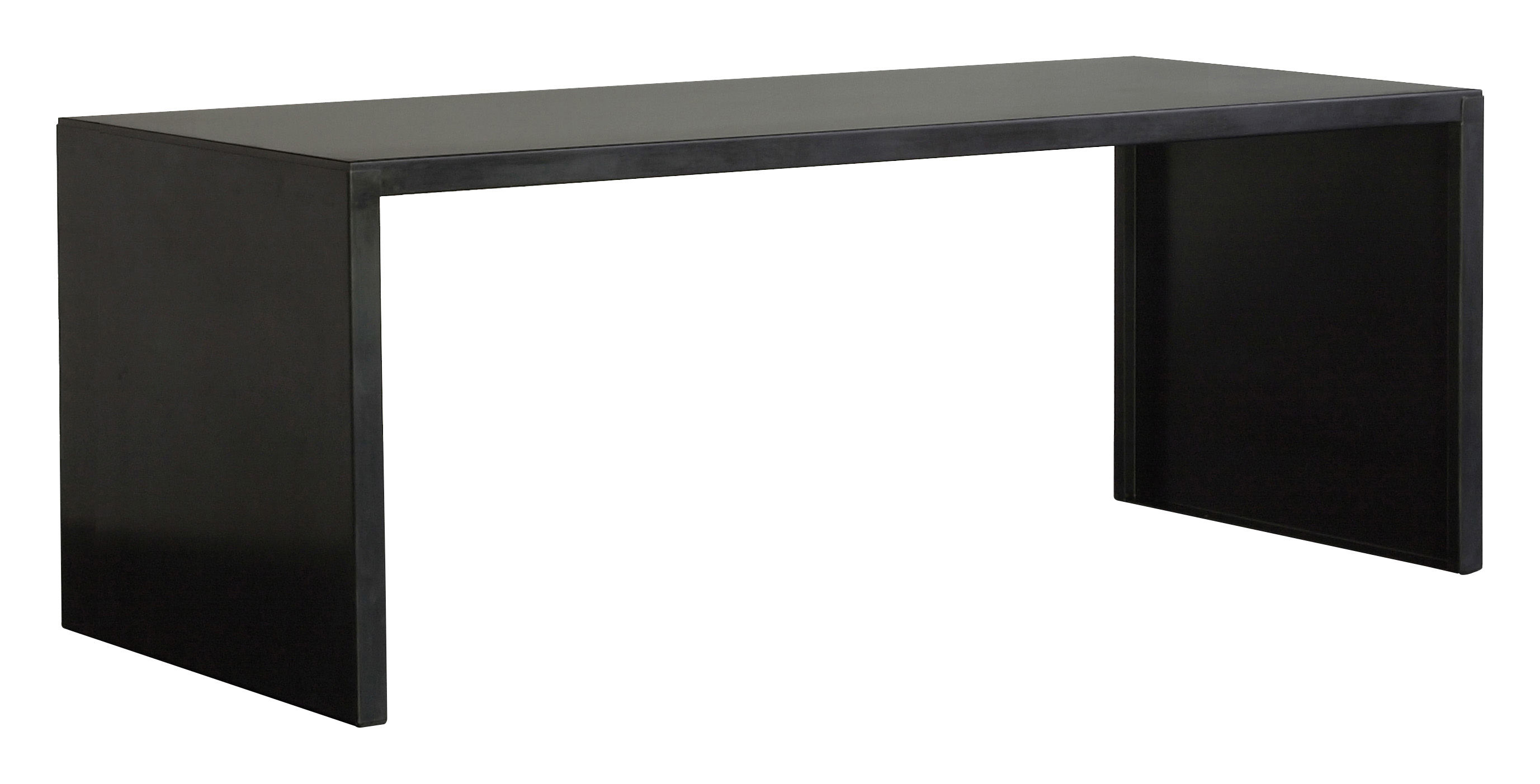 Big Irony Desk Table L 160 Cm Black Phosphated Steel