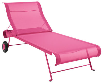 Outdoor - Sun Loungers & Hammocks - Dune Sun lounger by Fermob - Fuchsia - Lacquered steel