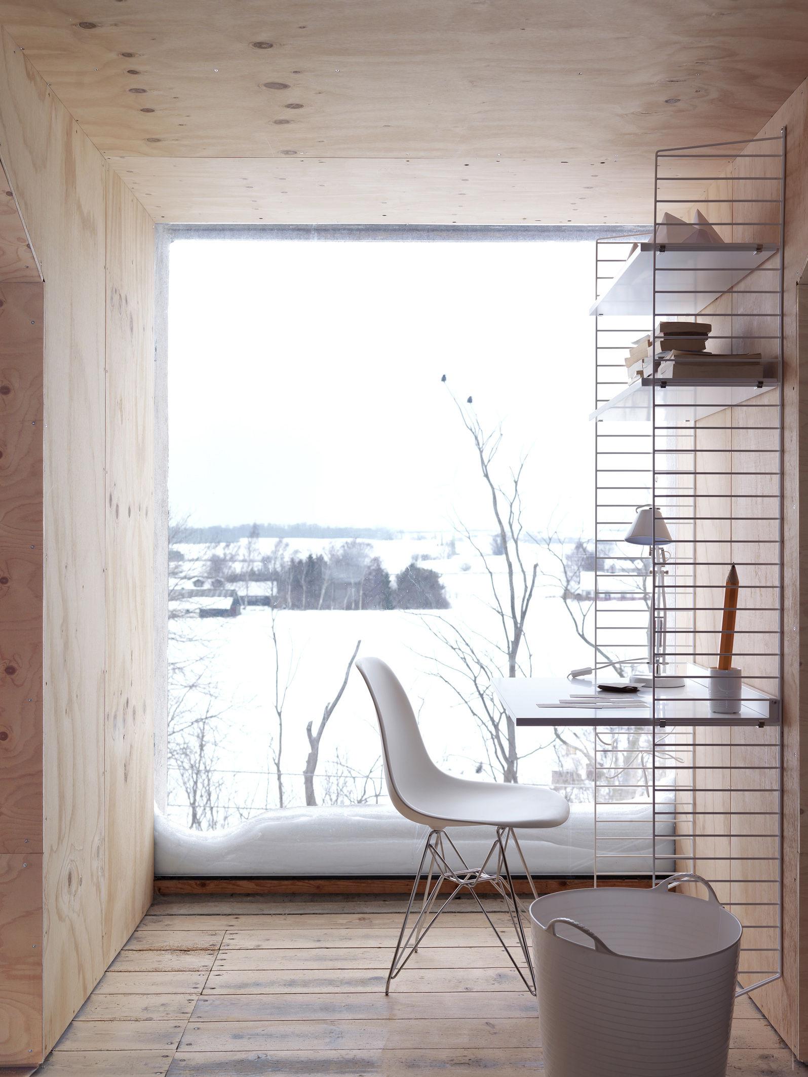 tablette string system bureau l 78 x p 58 cm noyer. Black Bedroom Furniture Sets. Home Design Ideas