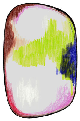 Tapis Scribble / 300 x 200 cm - Moooi Carpets bleu,rose,vert en tissu