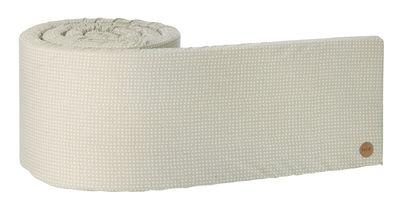 Tour de lit Cross / L 340 cm - Ferm Living blanc,gris en tissu