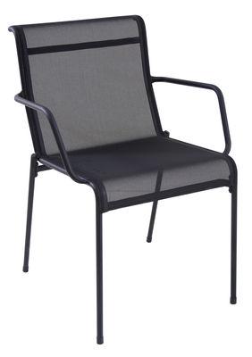 Kira Stapelbarer Sessel / mit Outdoor-Bespannung - Emu - Schwarz