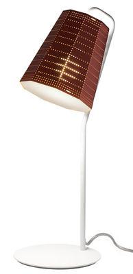 Lampe de table Null Vector LED - Artemide orange en métal